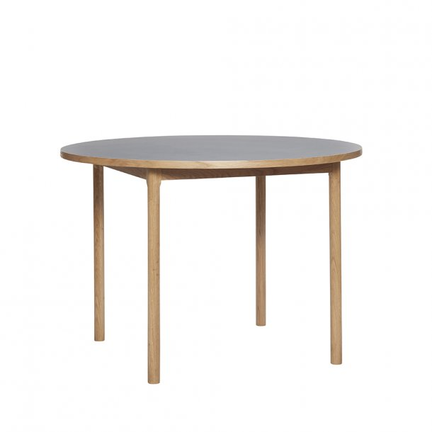 Hübsch - Dining table, oak, nature/grey
