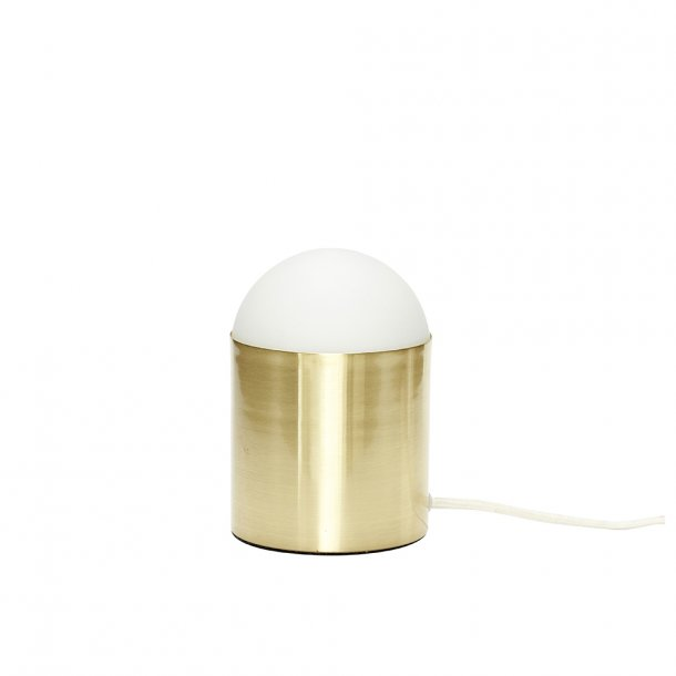 Hübsch - Table lamp, glass/brass | Bordlampe