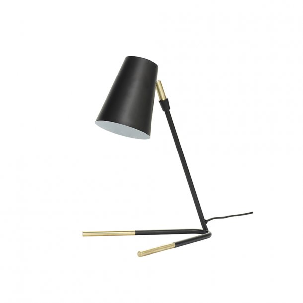 Hübsch - Table lamp, metal/brass - Bordlampe