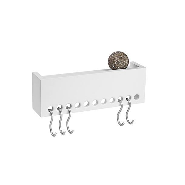 NOMESS - So Hooked Wall Rack - White