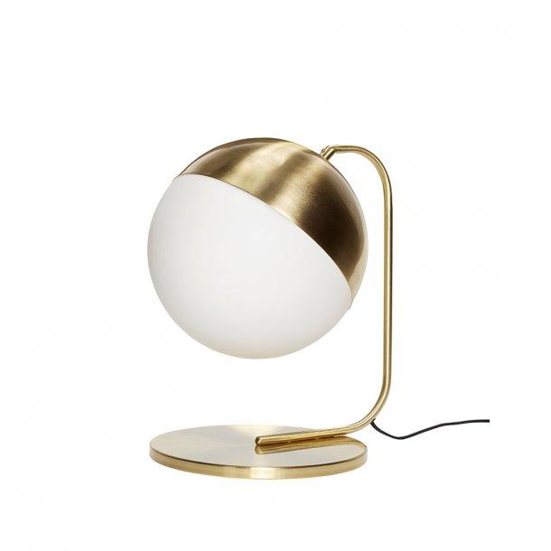 Hübsch - Table lamp, Metal, Black/Brass - Bordlampe