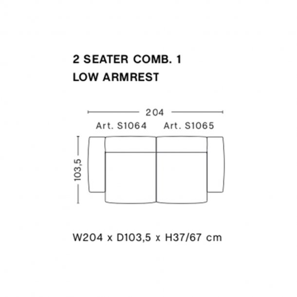 HAY - Mags Soft Sofa | Low Armrest | Færdige kombinationer 3 | 2,5 Seater