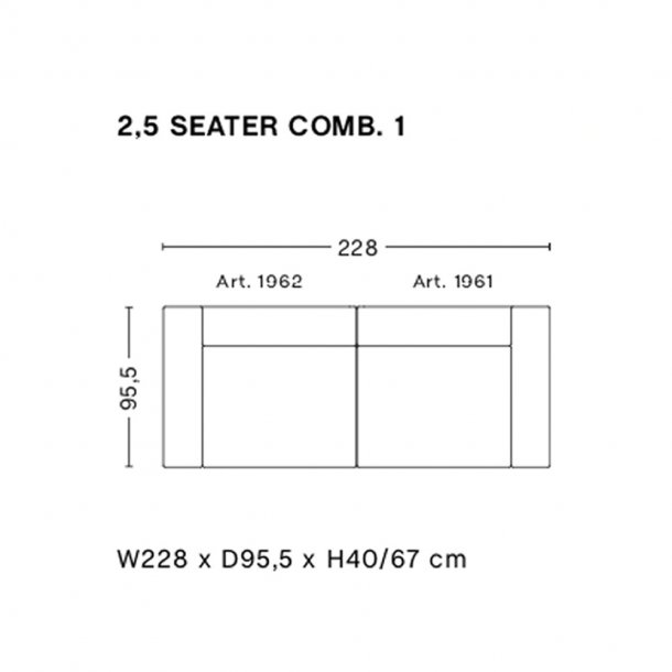 HAY - Mags Sofa | Færdige kombinationer 2 | 2,5 Seater