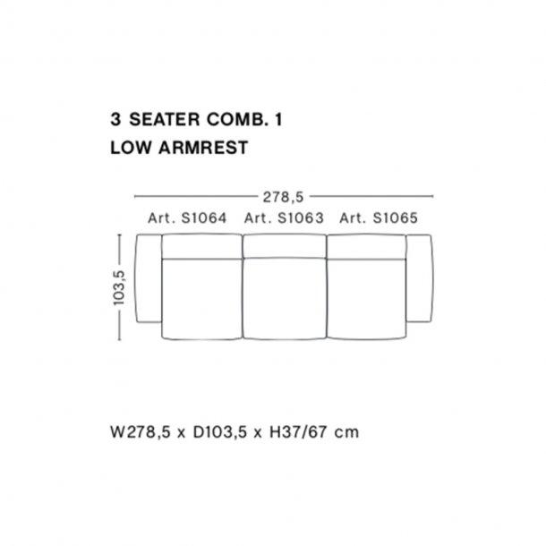 HAY - Mags Soft Sofa - Low Armrest - Færdige kombinationer 3 Seater