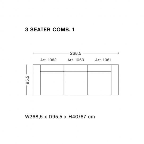 HAY - Mags Sofa | Færdige kombinationer 3 Seater