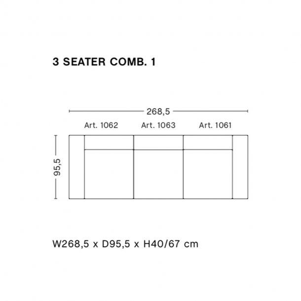 HAY - Mags Sofa - Færdige kombinationer 3 Seater