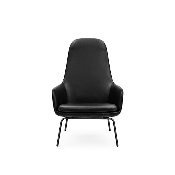 Normann - Era Lounge Chair High - Black steel