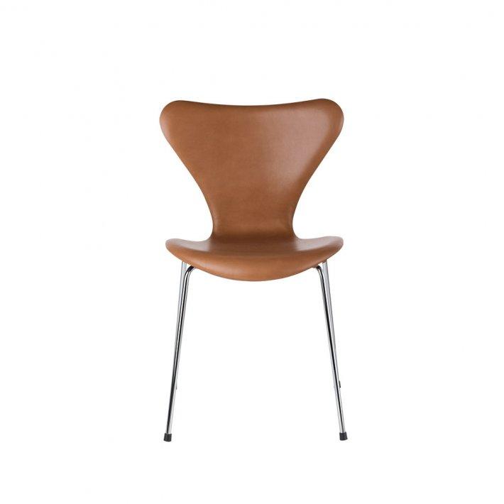 Fritz Hansen - SERIE 7™ stol 3107 | Fuldpolstret, læder