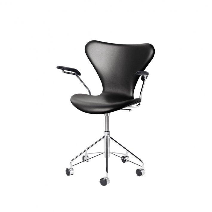 SERIE 7™ kontorstol m. armlæn 3217 - Fuldpolstret, læder
