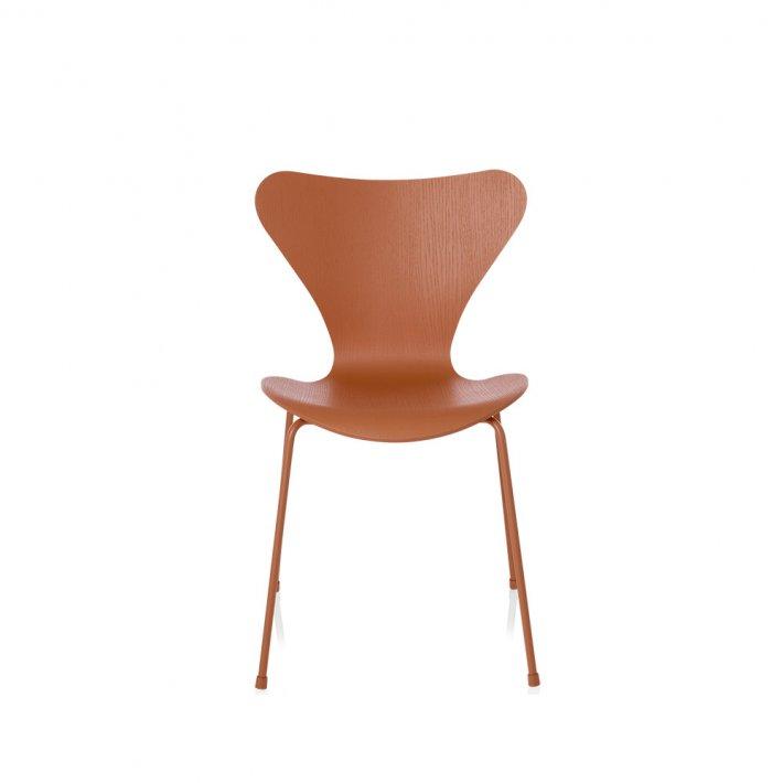SERIE 7™ stol 3107 - Monokrom, farvet ask