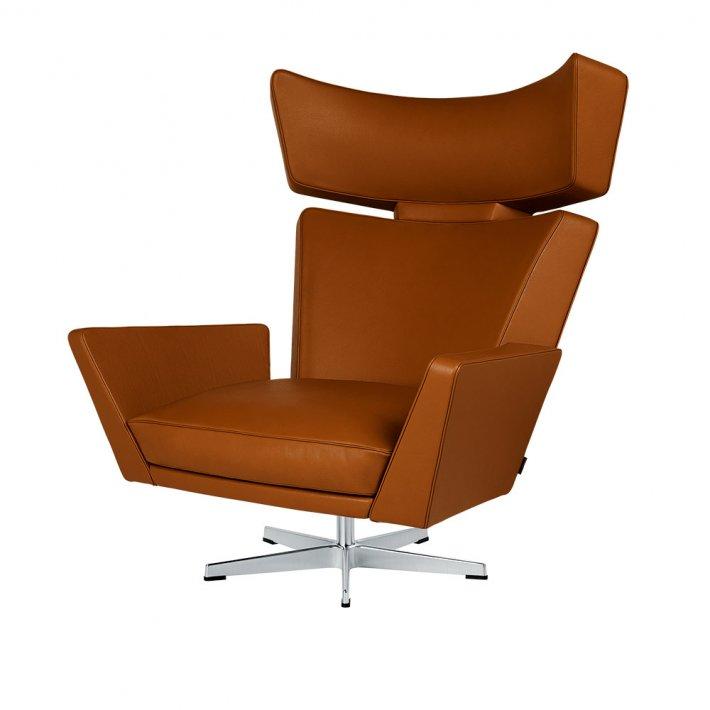 OKSEN™ loungestol - Satinpoleret aluminium