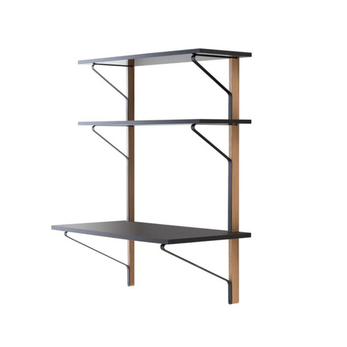 Artek - Kaari Wall Shelf, With Desk | REB 013