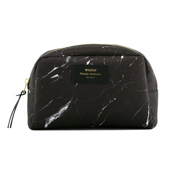 Wouf - Beauty | Black Marble | Toilet bag