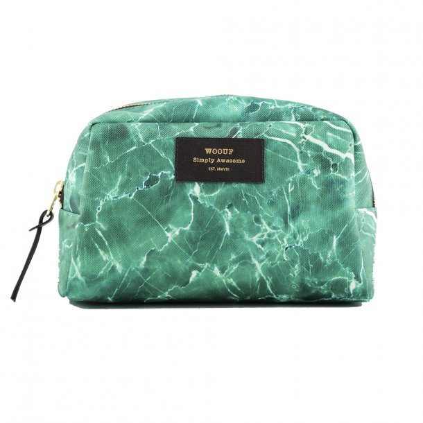 Wouf - Beauty | Green Marble | Toilet bag