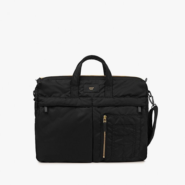 OUTLET - Wouf | Black Bomber Bag*