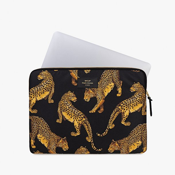 Wouf - Black Leopard - Laptop Sleeve - 13''