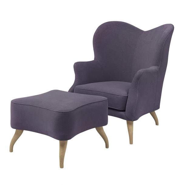 Gubi - Bonaparte Lounge Chair - Lænestol Prisgruppe 5 Sortbejdset bøg