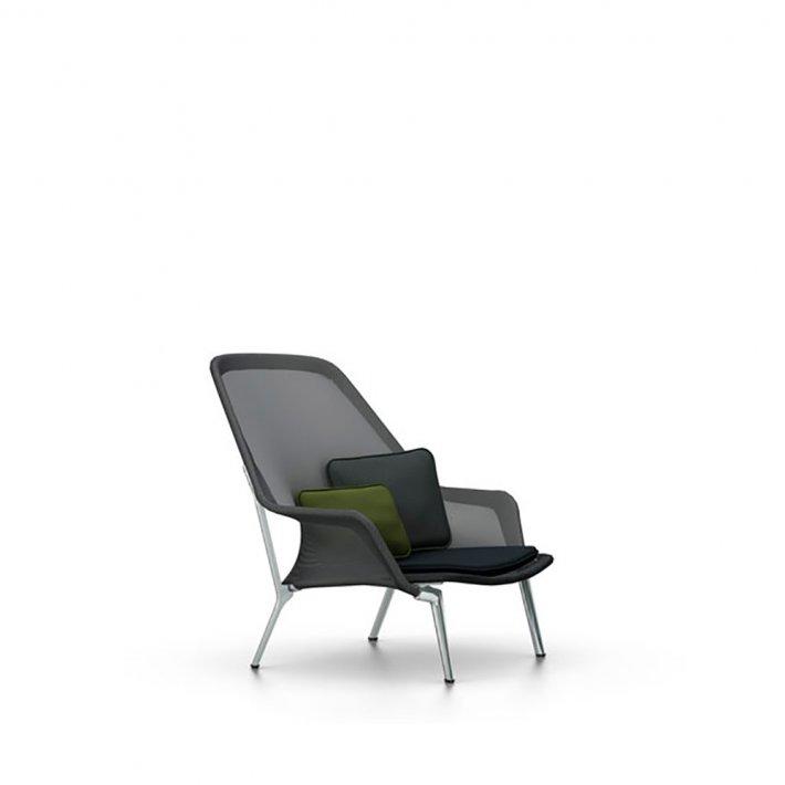 Vitra - Slow Chair | Poleret aluminium