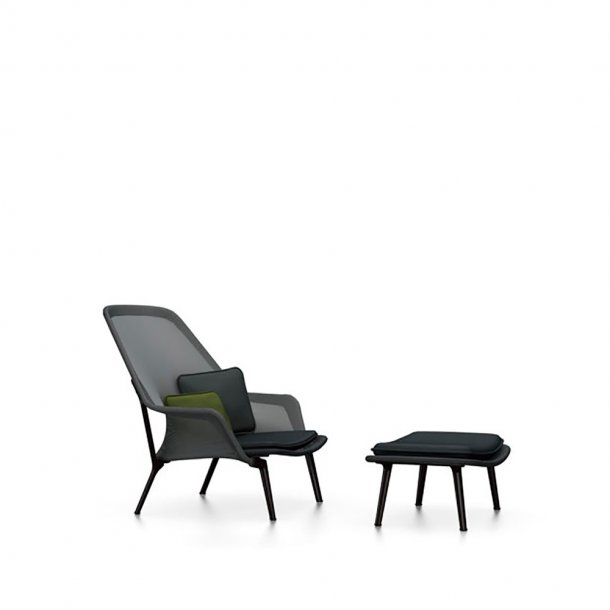 Vitra - Slow Chair og ottoman - Pulverlakeret
