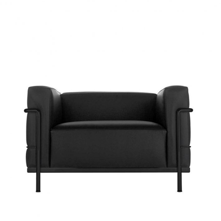 Cassina - LC3 Armchair |  Sort stel, Læder