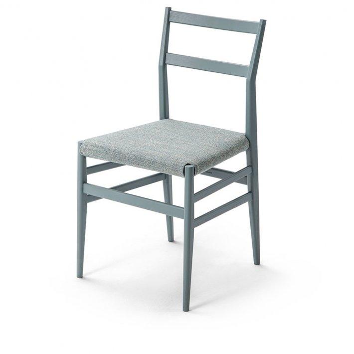 Cassina - 646 Leggera Chair | Petroleum, tekstil
