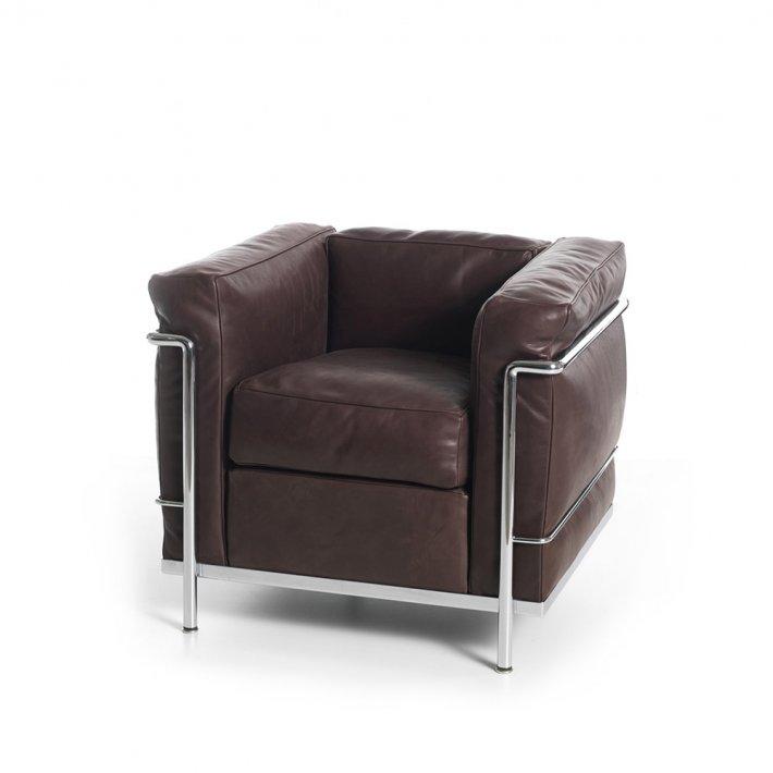 Cassina - LC2 Armchair | Krom Stel, Læder