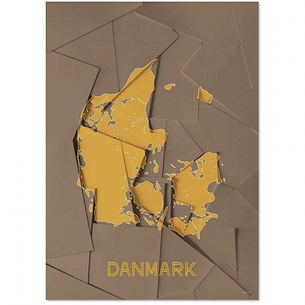 Chicura - Maps - Danmark - Plakat