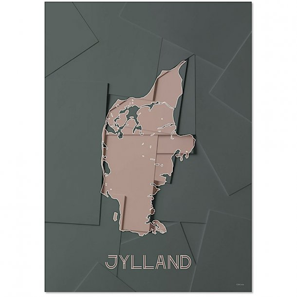 Chicura - Maps | Jylland | Poster