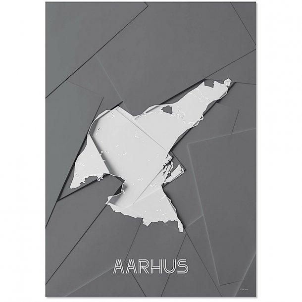 Chicura - Maps - Aarhus - Poster