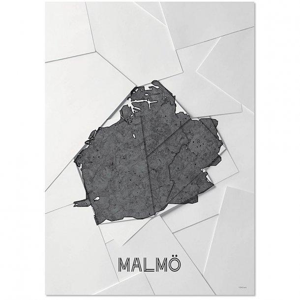 Chicura - Maps - Malmö - Plakat