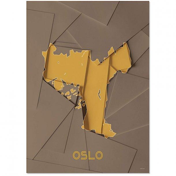 Chicura - Maps - Oslo - Poster
