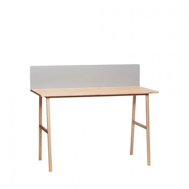 Hübsch - Desk, oak, nature m. magnettavle - Skrivebord