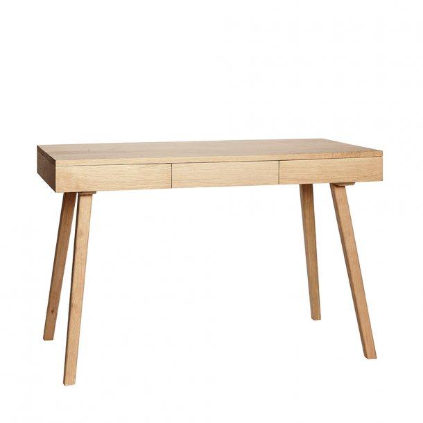 Hübsch - Desk w/3 drawers, oak, nature - Skrivebord