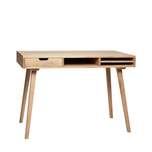 Hübsch - Desk w/compartments, oak, nature | Skrivebord