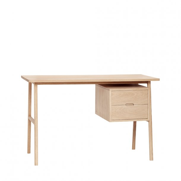Hübsch - Desk w/drawers, oak, nature - Skrivebord
