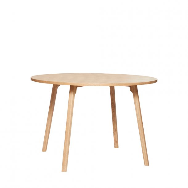 Hübsch - Dining table, oak, nature/grey Ø115 | Spisebord