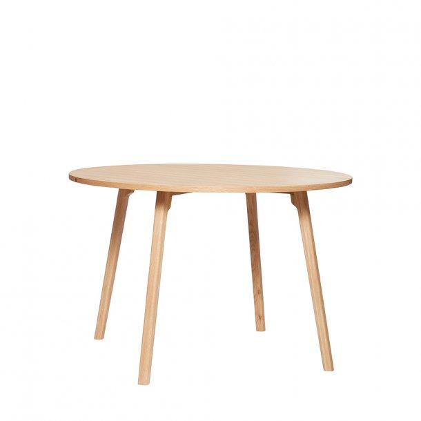 Hübsch - Dining table, oak, nature/grey Ø115 - Spisebord