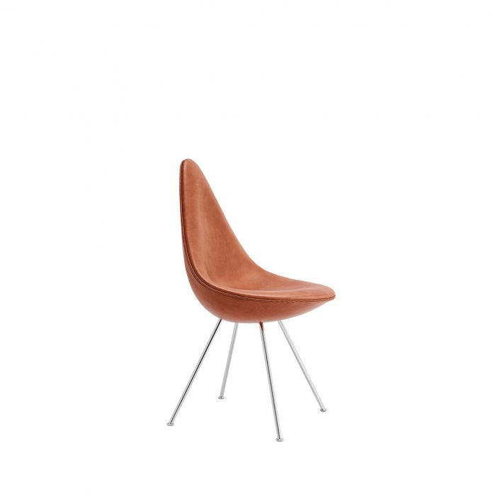 DRÅBEN™ stol 3110 - Læder, forkromet stel