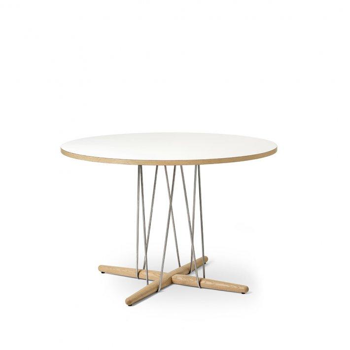 Carl Hansen & Søn - E020 | 110 bord | valnød | Hvid bordplade