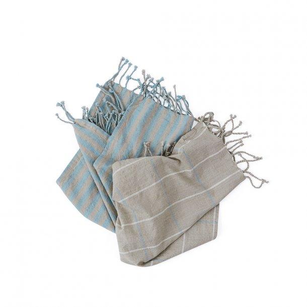OYOY - Gobi Tea Towels - Viskestykker - Camel / Råhvid
