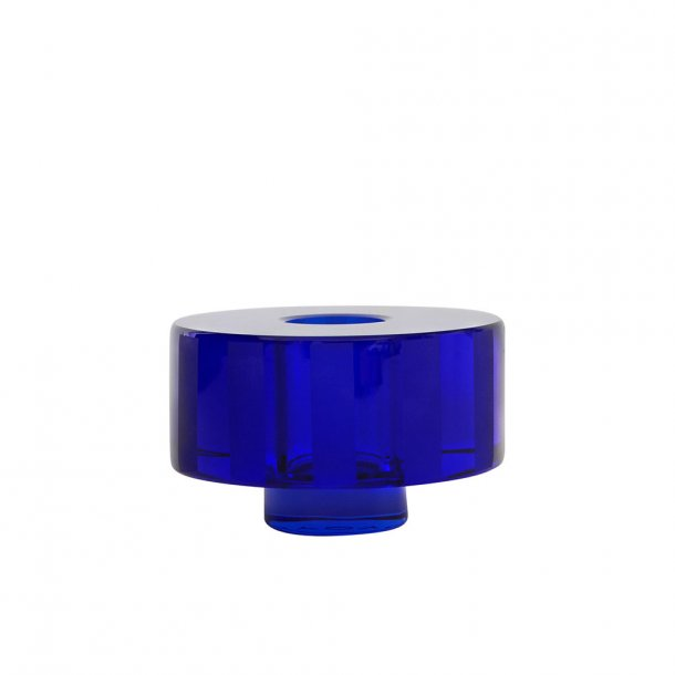 OYOY - Graphic Candleholder Blue - Lysestake