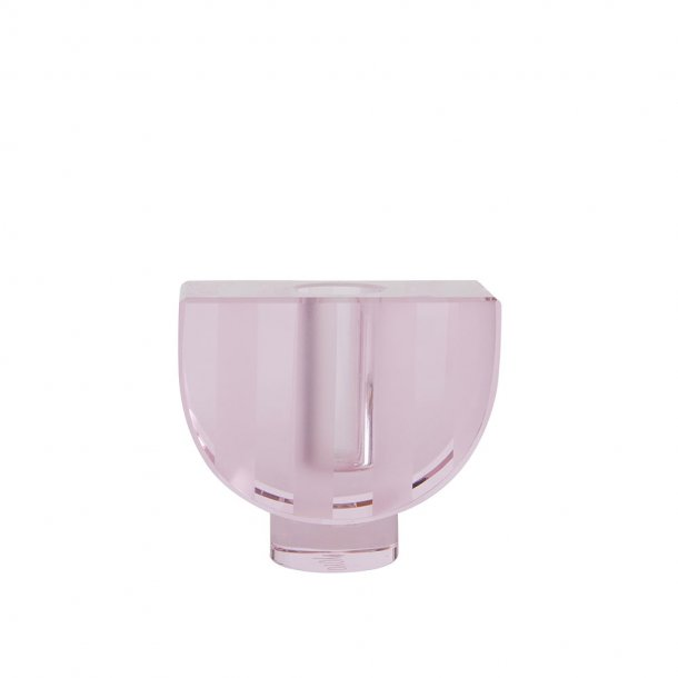 OYOY - Graphic Candleholder Pale Rose - Lysestage