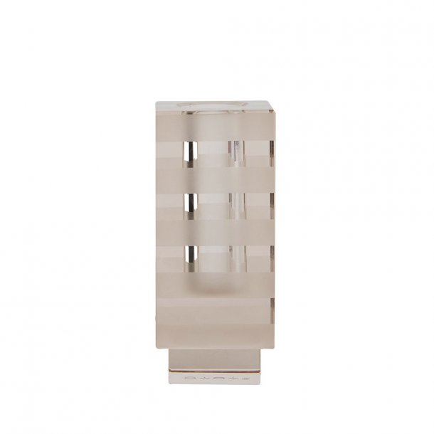 OYOY - Graphic Candleholder Taupe | Lysestage