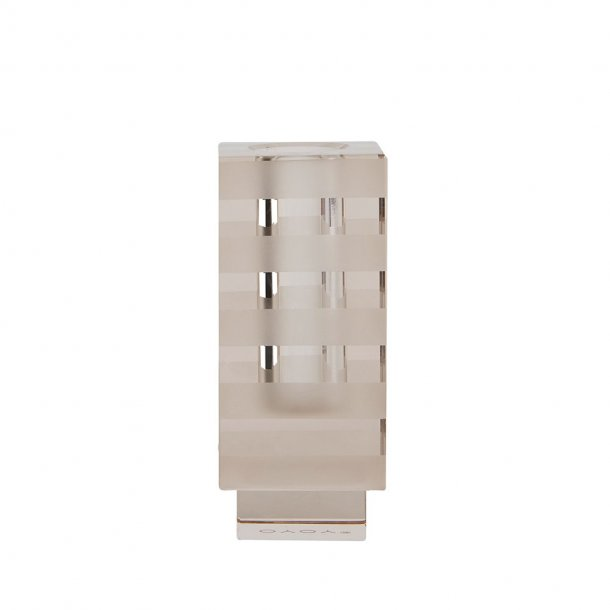 OYOY - Graphic Candleholder Taupe - Lysestage