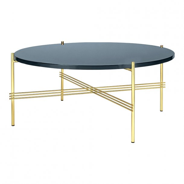 Gubi - TS Table - Messing stel/Glas - Sofabord Ø80