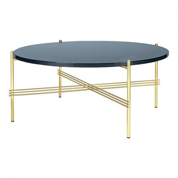 Gubi - TS Table - Messing stel/Glas - Sofabord Ø80