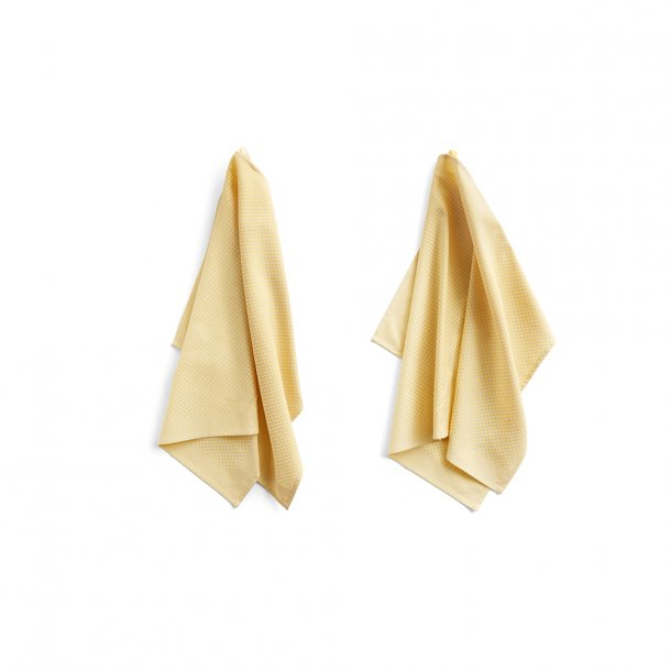 HAY - Tea towel | Check Soft Yellow | 2 stk