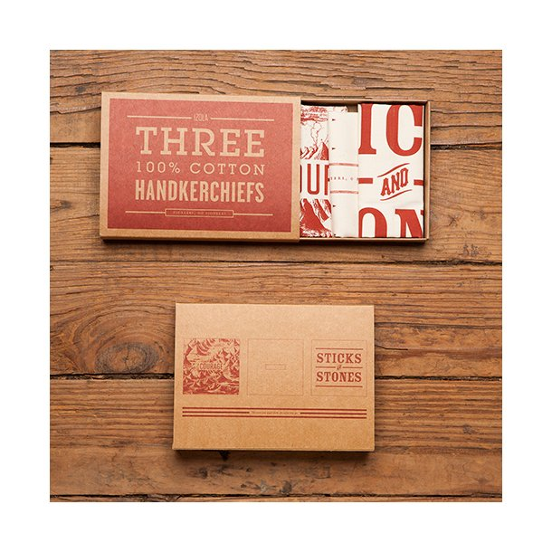 OUTLET - Men's Society - Handkerchiefs - O'Pioneers (sæt)*