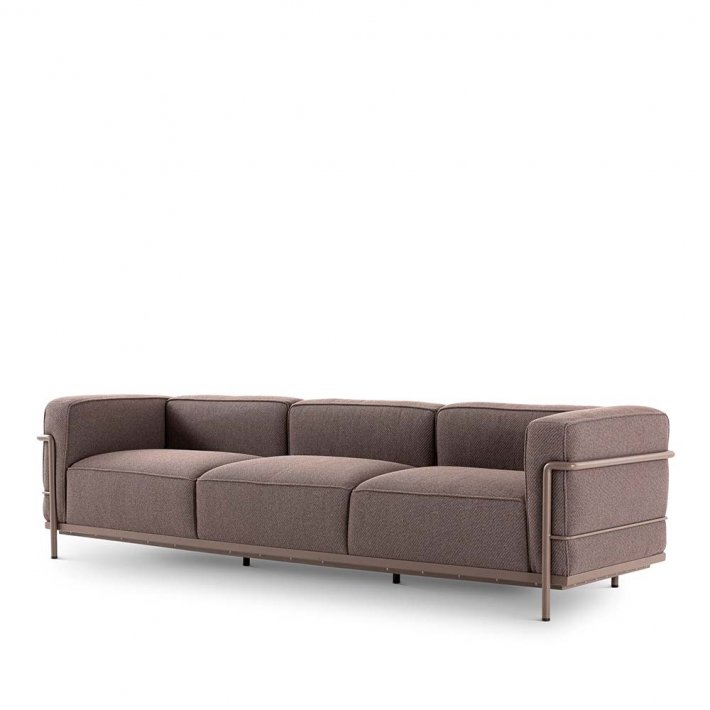 Cassina - LC3 Outdoor, 3-seater sofa | Mud stel
