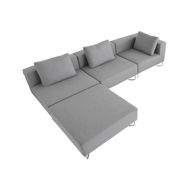 Softline - Lotus Sofa moduler Steelcut Lille Puf